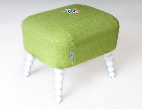 baba storage stool with folk cover