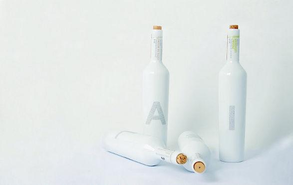 porcelain thibaut godard set of wine bottles