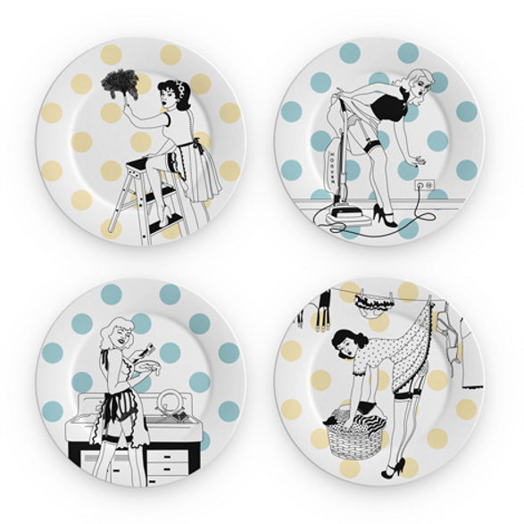 houswife plate wall decoration pin up