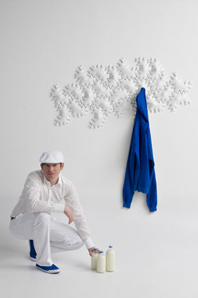 milky star wall decoration and hanger
