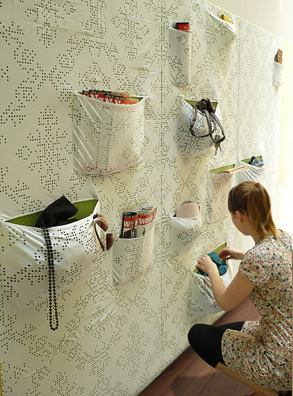 pocket wall wallcovering with pockets