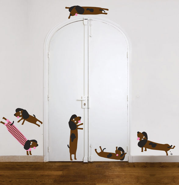 dog wall sticker for kids room