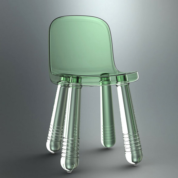 sparkling chair made of pet