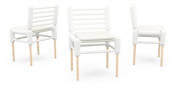 cheviot chairs inspired by cloning by tomas ekstrom