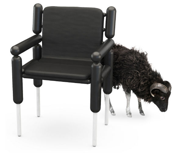 ouessant chair inspired by cloning by tomas ekstrom