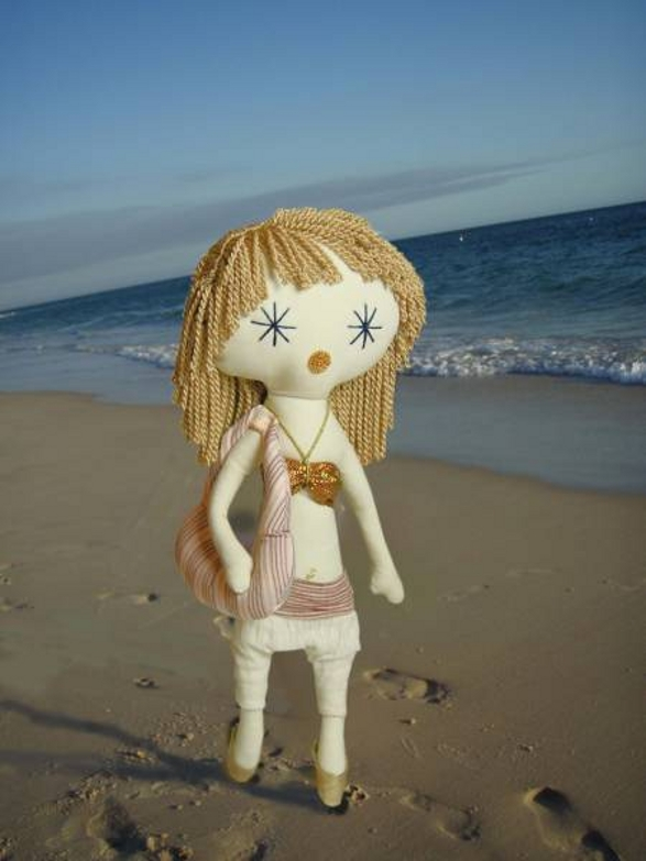 on the beach laloushka collectible doll