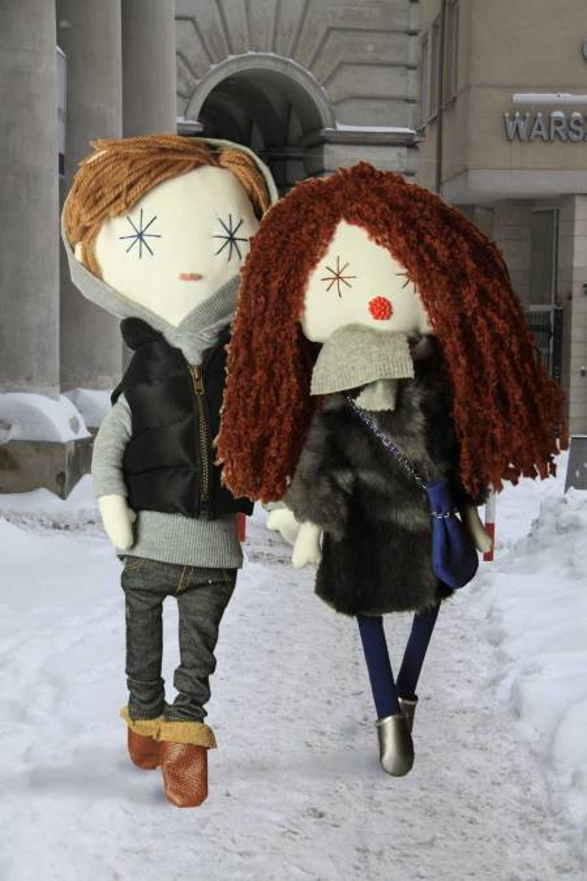 winter walk lalouska collectible doll