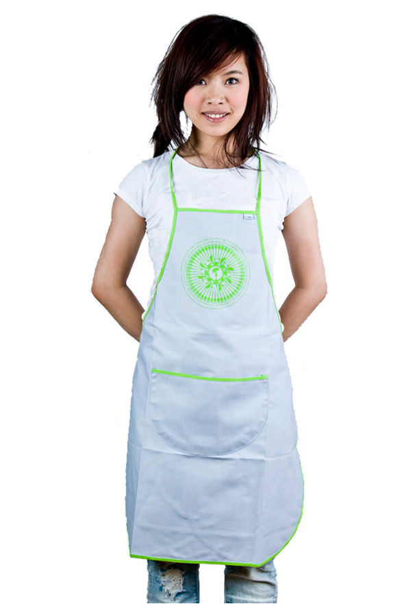 colorfolk apron with recipe for pierogi