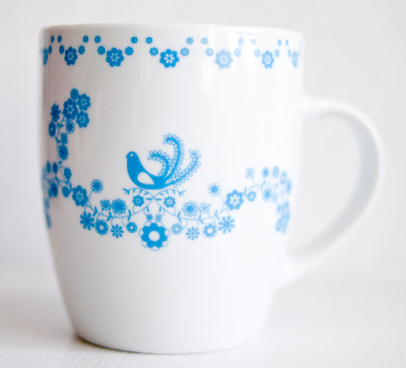 mugs finspired with folk art