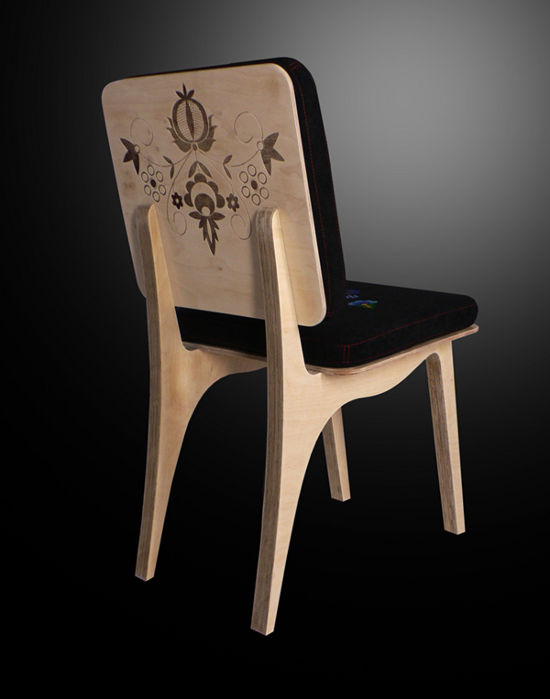 kaszebe chair back inspiered by folk art