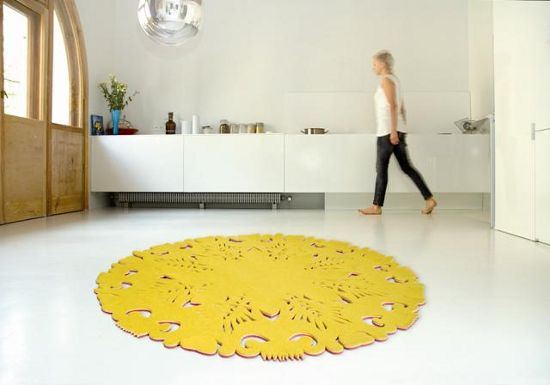 dia carpet inspired by paper cutting and folk art