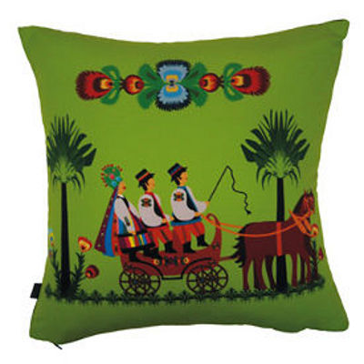 decorative pillow inspired by polish folk