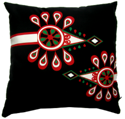 decorative pillow inspired by polish high mountain folk