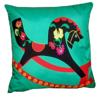 decorative pillow inspired by russian folk