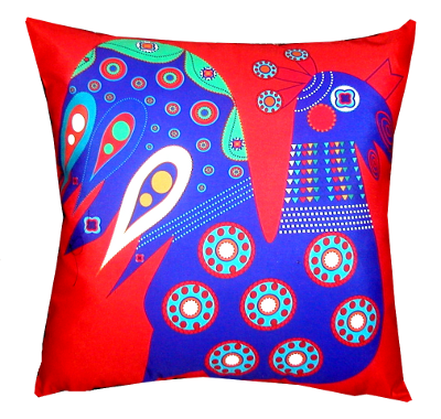 decorative pillow inspired by spain folk 2
