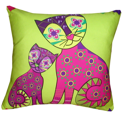 decorative pillow inspired by spain folk
