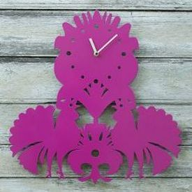clock inspired by folk paper cuttings