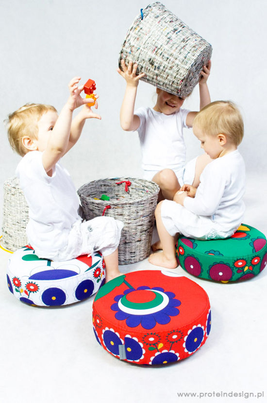 pleciak storage stool inspired by folk