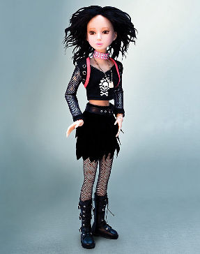 delilah noir punk collectible doll