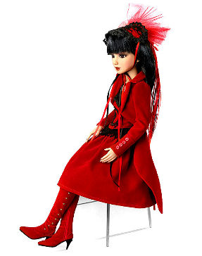 delilah noir red velvet collectible doll