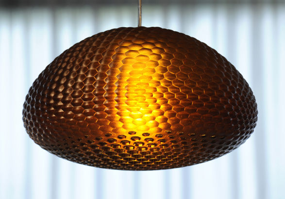 dragonfly.mgx pendant light by werteloberfell inspired by insects eyes