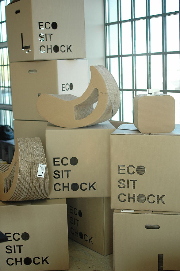 eco friendly seats made of cardboard