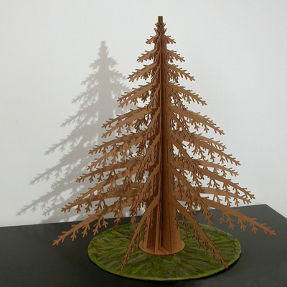 alpine christmas tree made of cardboard