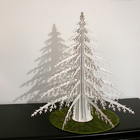 alpine tree for christmas by cardboard safari