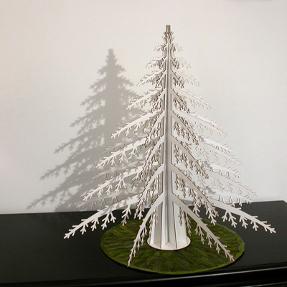 alpine tree for christmas by cardboard safari