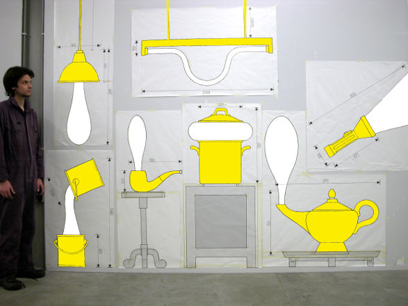 drawings of wonderlamps by pieke bergmans and studio job
