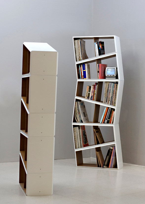 6 degrees  shelves inspired by blocks building