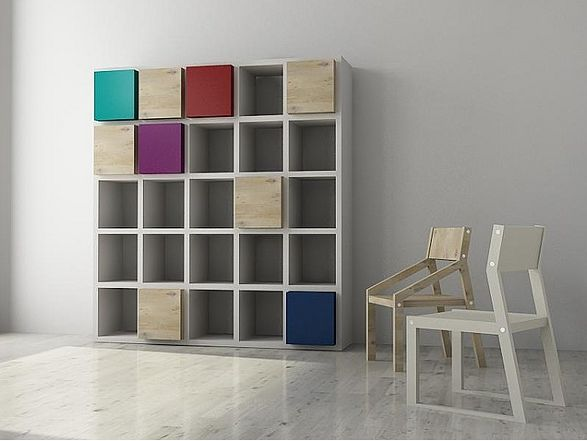 kwarto system shelves and cuboards inspired by jigsaw