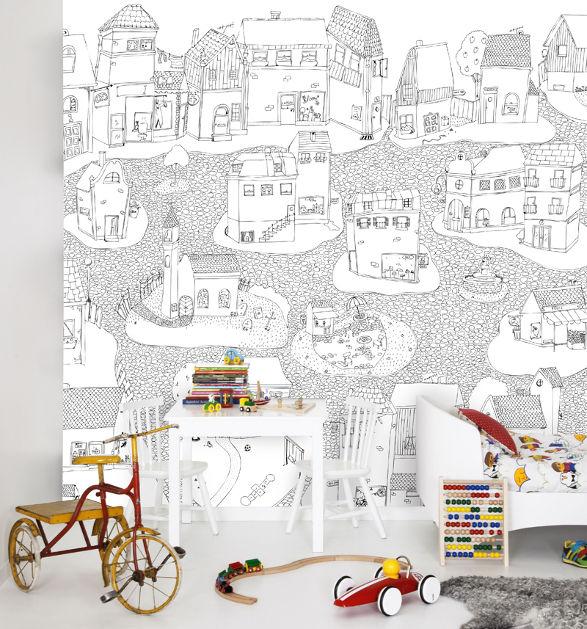 joyville colour me wallpaper for child's room