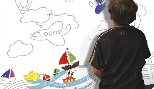 progress colour me wallpaper for child's room