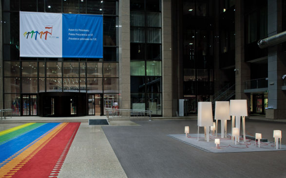 polish presidency in eu lamps made of corian