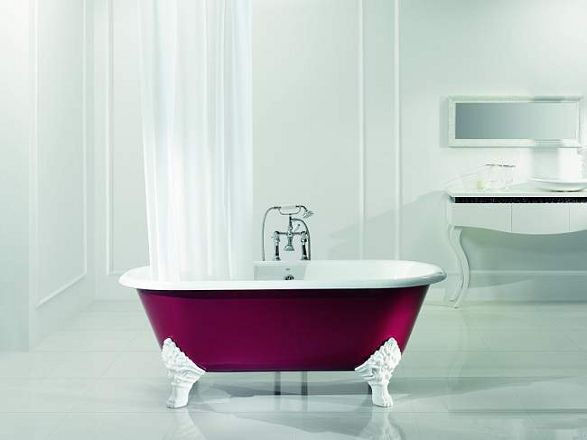 carlton bathtube in purple