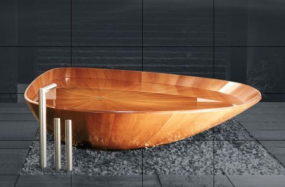 wooden shell bathtube