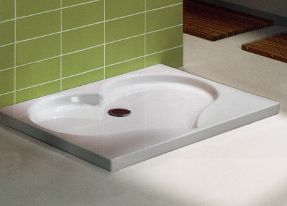 heart shaped shower tray