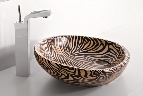 zebra wash basin