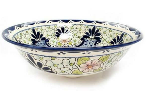 celeste mexican hand crafted wash basin