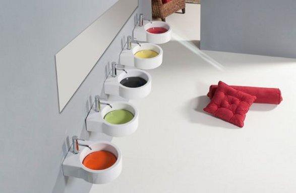 colourful wash basins