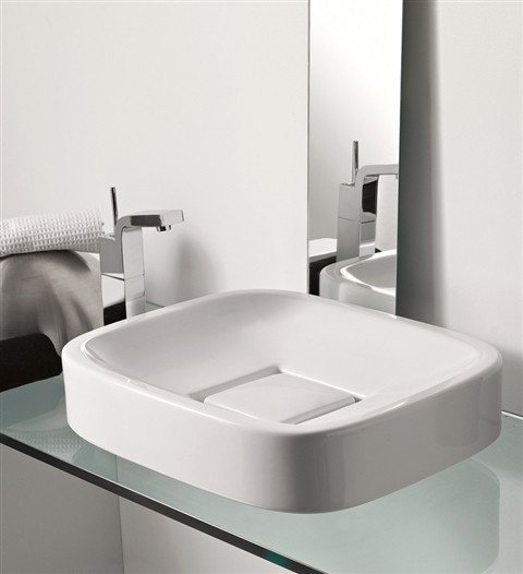 oval wash basin with square drain