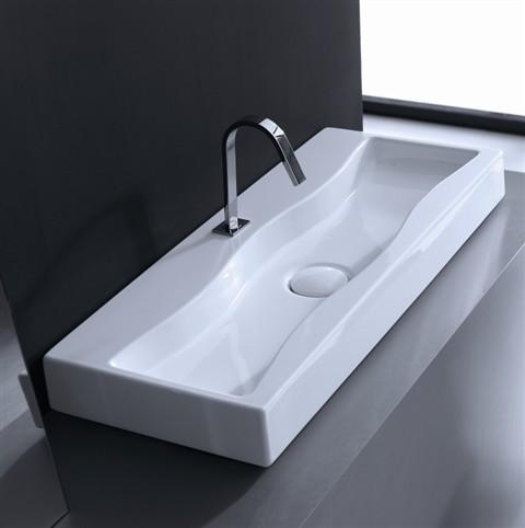 wave shaped wash basin