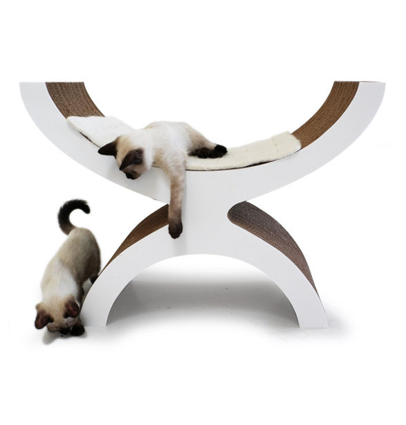 couchette by kittypod bed for cat made of cardboard