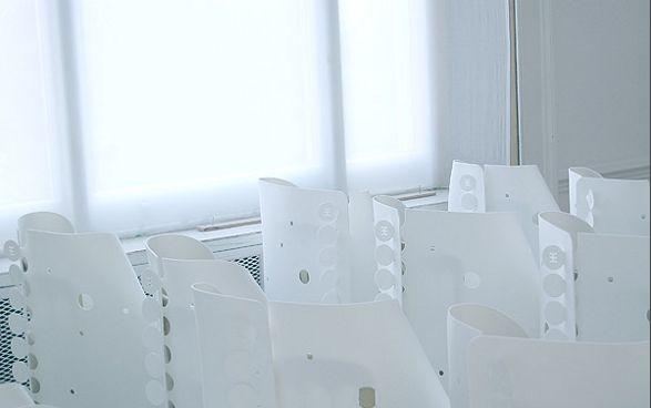 white modern chair covers