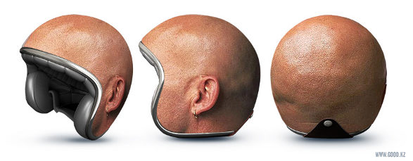 bold head motorcycle helmet by good