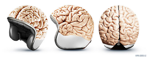 brain motorcycle helmet