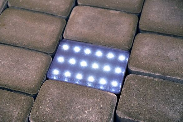 bruklux illuminant cobblestone for outdoor illumination