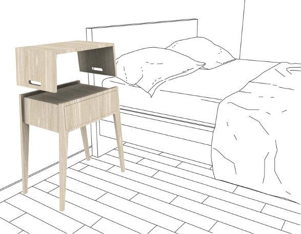 koko night table with laptop desk