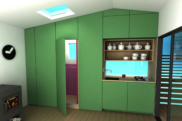 mini house in scandinavian style 2